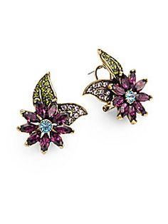 Breathless Crystal Flower Earrings