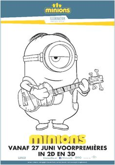 Minion Stuart And Jerry Is Shocked The Minion Coloring Page