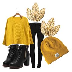"""Hufflepuff Fall"" by hilldod90 ❤ liked on Polyvore featuring J Brand and Chicnova Fashion"