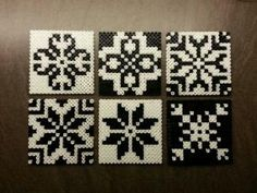 Hama beads, coasters or tiles - Norwegian inspired patterns. Hama perler, glassbrikker / fliser. Norsk inspirert mønster. Made by Montoya by taylor