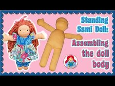 DIY   Making a cloth doll head Step by Step Instructions • Standing Sami Pattern - YouTube