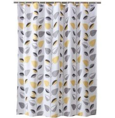Gray Yellow Leaf Curtain Shower Curtains Bathroom Target