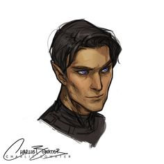 """missguidedmartyr: """" charliebowater: """" Another attempt at Rhysand (because he's too fucking perfect to get 100% right) but I THINK I MIGHT HAVE FUCKING CRACKED HOW I ACTUALLY PICTURE HIM!?!?!?! My last attempt was lacking that kind of, I dunno, scary..."""