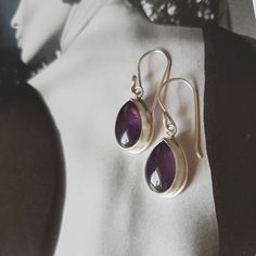 Amethyst earrings / sterling silver /// by Eyes Of Ruby jewelry