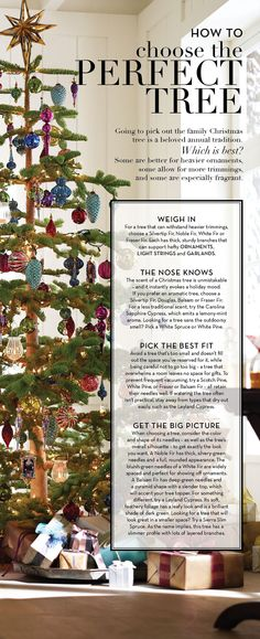 Choose the Perfect Tree | Pottery Barn. http://www.silvertiptreefarm.com/