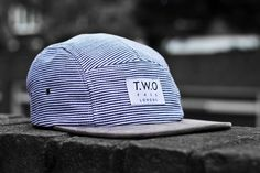 The Worlds Original Face TWO Face London2nd Edition 5 panel cap hatBlue