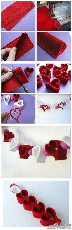 DIY Heart Mobile