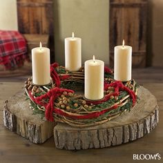 Holz - wood candel centerpiece
