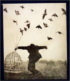 NUESTRO DIOS, EL HOMBRE: SIN ALAS...   Aprendí a volar sin alas... y mal vuelo... pero siento el viento en mi cara... y agito los brazos sin dolor...