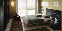 Dormitorio en negro Bed, Furniture, Home Decor, House Decorations, Yurts, Headboards, Mesas, Black, Home