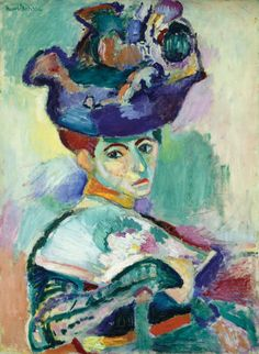 Woman with the Hat, by Henri Matisse, 1905. Oil on canvas, San Francisco Museum of Modern Art, San Francisco (bequest of Elise S. Haas).