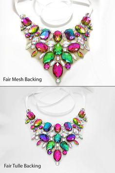 Collana di strass iridescenti collana di SparkleBeastDesign