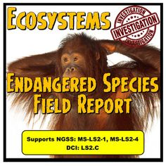 Endangered Species Field Report This is a great way to have students research one endangered species. Using the World Wild Life Organization webpage https://www.worldwildlife.org/species/directory students will choose one animal to do their field report.