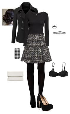 """""""Skirt"""" by gone-girl ❤ liked on Polyvore featuring Missguided, WithChic, Dolce&Gabbana, H&M, Victoria's Secret PINK, Whistles, Mark Broumand and Giuseppe Zanotti"""