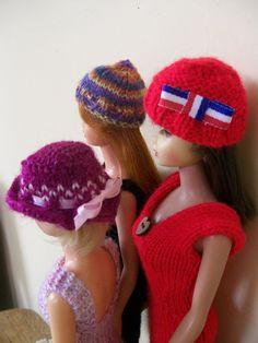 Barbie clothes - set of three hats