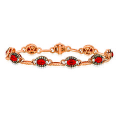Le Vian® Fiery Reds™ natural Rubies framed in Chocolate Diamonds® with Vanilla Diamond® accents set in 14K Strawberry Gold®