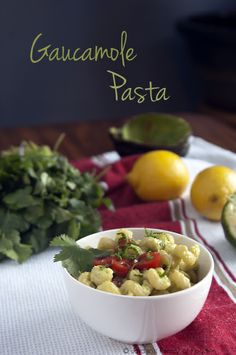 Jordan's Family of Foodies: Meatless Monday: Guacamole Pasta