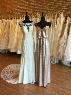 Glam Wedding Inspo   Available now at our Farmington, Missouri boutique. Size 14 (Runs Small) Sequin Bridesmaid, Bridesmaids, Bridesmaid Dresses, Wedding Dresses, Farmington Missouri, Size 14, Sequins, Boutique, Bridal
