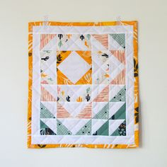 aurifil mini quilt | Flickr - Photo Sharing!