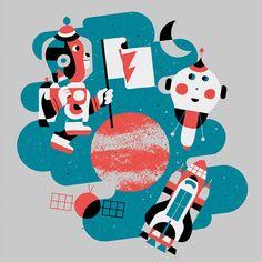 Hedof's vibrant print illustrations - Rick Berkelmans
