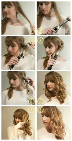 8 steps to side swept waves - red carpet hair tutorial! pin now, try later.