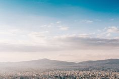 Athens panoramic view #2 by Walking Blonde on Creative Market