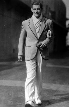 Clark Gable very early 1930s I would say. Not many people know Clark was undernourished and rather weedy when young and his first agent had to feed him up.