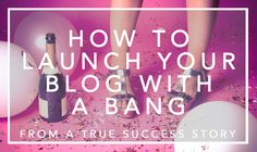 Six powerful tips from a blogger who grew her blog from zero to one million+ visitors in a short time. Learn how to launch your blog with a bang.