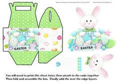 Over the Edge Easter Bunny Gift Box on Craftsuprint designed by Alison Sulley