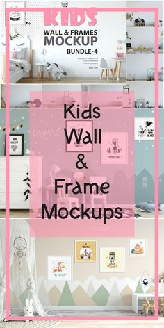 KIDS WALL & FRAMES Mockup Bundle - 4 Perfect for Branding your creation or business. Interior wall Mockups good to use for shop owners, artists, creative Graphic Design Tips, Etsy Business, Kids Branding, Creative People, Interior Walls, Marketing Materials, Frames On Wall, Cute Wallpapers, Etsy
