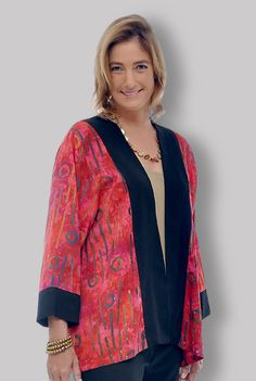 Plus Size Clothing Dressy Batik Separate with Wide-Sleeves | https://www.facebook.com/comfortinfashion