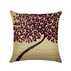 Infinal Retro Flower Decorative Case Square Linen Cotton Waist Cushion Throw Pillow Shell * Read more reviews of the product by visiting the link on the image.Note:It is affiliate link to Amazon.