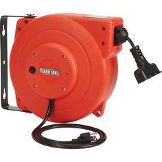Ironton Retractable Cord Reel — 33ft., 16/3, Triple Tap   Cord Reels  Northern Tool + Equipment