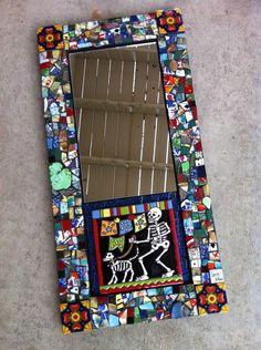 Mosaic mirror built on old cabinet door