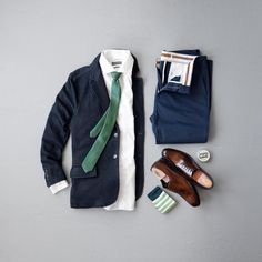 Men's Classy Fashion, Blazer, Tie, Chinos and Oxfords #menswear #dapper #menstyle
