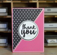 JanB Handmade Cards Atelier: Pop of Pink One Sheet Wonder - part 1.