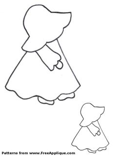 Free Applique Patterns | Free Sunbonnet Sue patterns to use as applique patterns, quilt ...