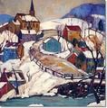 Fern Isabel Coppedge - Village Hillside - Bucks County - Original Size - 24 x 24 - 1941