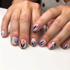 Nail Designs nail designs for fall nail designs for summer gel nail designs 2019 Cute Nails, Pretty Nails, Summer Gel Nails, Minimalist Nails, Manicure E Pedicure, Gel Nail Designs, Creative Nails, Perfect Nails, Natural Nails