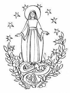 Miraculous Medal Coloring Pages For December 8 Feast Of