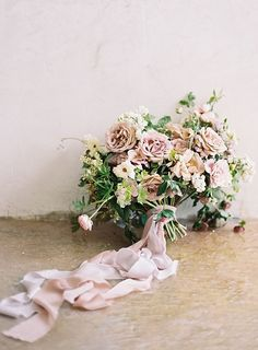 Fabulous blend of tones in this blush wedding bouquet!