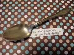 Spoon Theory (ske-teorien) - hjælp til forståelse for det at have en kronisk sygdom..........