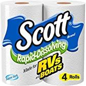 Scott Rapid-Dissolving Toilet Paper is specially made for use in RVs, boats, buses and similar applications. Scott Rapid-Dissolving toilet paper is Clog Clinic tested and approved to be septic-safe and sewer-safe. Best Toilet Paper, Scott Brand, Used Rv, Portable Toilet, Composting Toilet, Septic System, Septic Tank, Soft And Gentle, Biodegradable Products