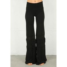 Nightcap Clothing > Nightcap Clothing Smocked Crochet Beach Pant in... via Polyvore