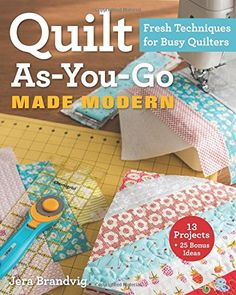 Modern Quilting: 25 step-by-step projects for cool and contemporary patchwork and quilts Quilting Tips, Quilting Tutorials, Machine Quilting, Quilting Projects, Sewing Projects, Sewing Tips, Quilting Frames, Sewing Blogs, Strip Quilts
