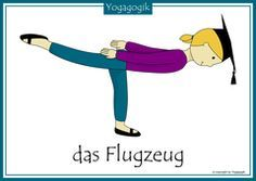 Kinderyoga Flashcards Flugzeug
