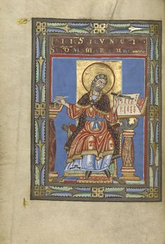 """Touching the Past: The Hand and the Medieval Book,"" July 7–September 27, 2015 at the Getty Center. Saint Mark, gospel book, Helmarshausen, about 1120-40."