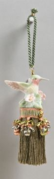 specialty tassels made from antique & collector salt & pepper shakers, dancing bear designs