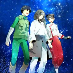 (Team Gai) Lee, Neji, and Tenten