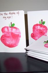 """Bible Lesson Week 1: A; Scripture: """"Keep me as the apple of your eye; hide me in the shadow of your wings."""" ~Psalm 17:8; Snack: apple slices; Craft: Apple Prints. (Needed: green stamp pad, red paint, cardstock, brown marker.)"""